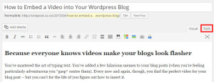 How to insert a video into your WordPress blog post